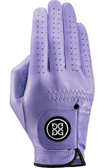 G/FORE gloves add colour to the game. Created by Italian fashion designer Mossimo Giannulli, they are cut from soft AA Cabretta leather and come in an impressive palette of 18 hues that range from blush, lavender and clover, to more muted shades like sand and onyx. $35 (U.S.); g-fore.com