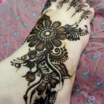 Black Henna Heavy Design For Feet 9