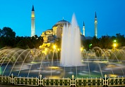 Turkey vacation - Hagia Sophia museum and fountain in Istanbul. Turkey tours.