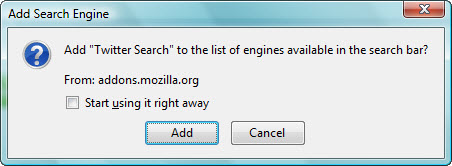 Firefox-Twitter-Search