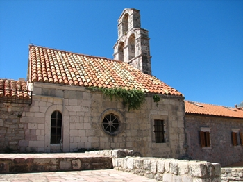 Budva medieval church in the old town