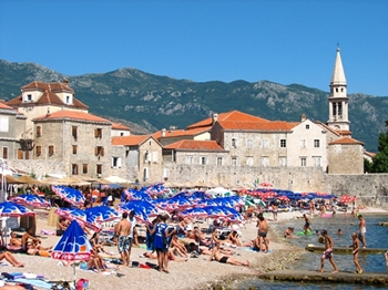 Budva city beach