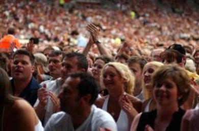 Elton John in concert at the KC Stadium in Hull