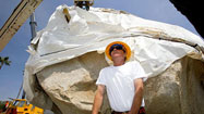 Artist's giant rock at LACMA has L.A. abuzz