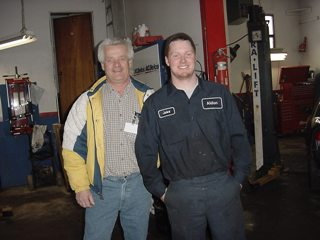 Jakob and teacher John Cooney, Durham Alternative S.S.