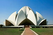 India vacation. Baha i House of Worship - Lotus Temple in New Delhi. India tourism packages.