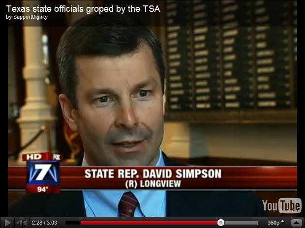 Video Texas state officials groped by the TSA