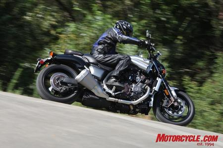 The VMax's riding position is open and comfortable for rides longer than a quarter-mile.
