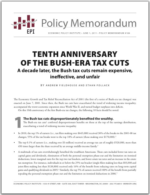 Tenth Anniversary Policy Memorandum