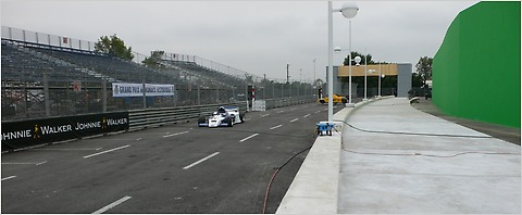 "Part of the Formula One track built for the movie ""Iron Man 2."""