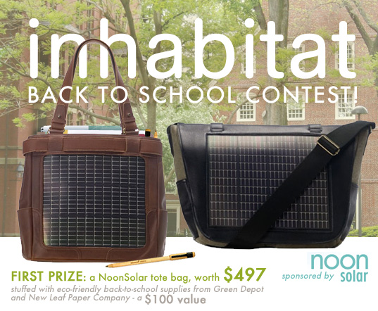 BACK TO SCHOOL CONTEST: Win An Awesome Solar Book Bag!
