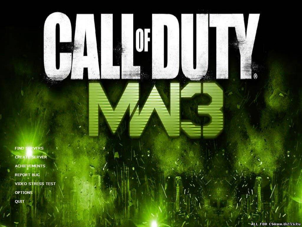 MW3 2 colors Menu Backgrounds