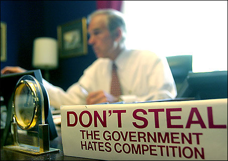 Don't Steal - The Government Hates Competition! (Ron Paul's Bumper Sticker)