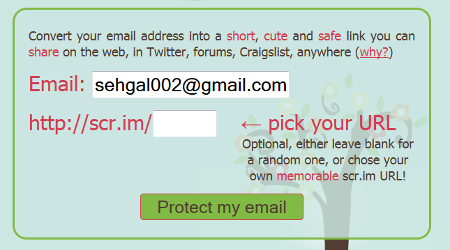 scr.im  Scr.im  Free Tool To Protect your Email Address on the Internet