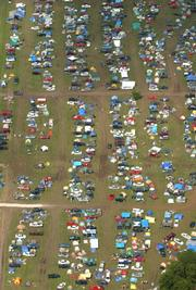 An aerial shot from last year's festival.