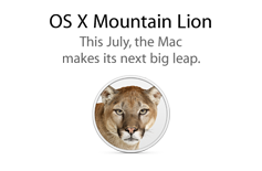OS X Mountain Lion. This July, the Mac makes its next big leap.