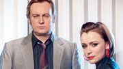 Ashes To Ashes - Gene Hunt (Philip Glenister), Alex Drake (Keeley Hawes)