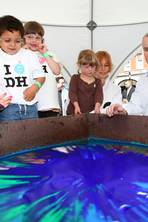 A spinning wheel and a splodge of paint – how hard can a 'Hirst' be?