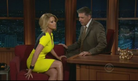 Craig Ferguson And Carrie Keagan Discussing Produce