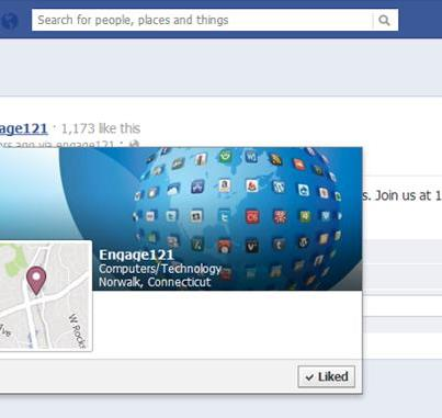 Photo: You can NO longer ignore the new Timeline design. Facebook brings cover photo design to 'hover cards' that appear when users mouse over page links: http://bit.ly/MK4Zhy