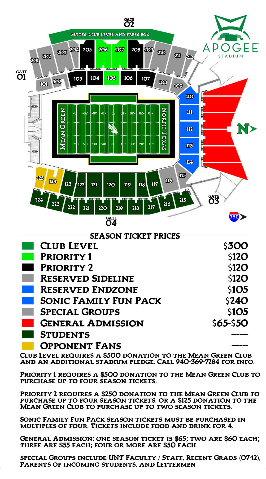 2012 Football Pricing Map