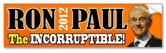 Ron Paul - The Incorruptible! bumpersticker