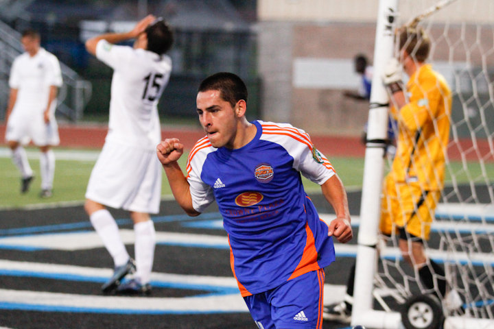 Danny after scoring against West Brom for Ventura County Fusion