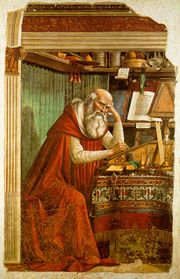 180px domenico ghirlandaio   st jerome in his study Early references about the Apostolate of Saint Thomas in India, Records about the Indian tradition, Saint Thomas Christians & Statements by Indian Statesmen