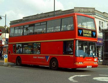 Blue Triangle bus