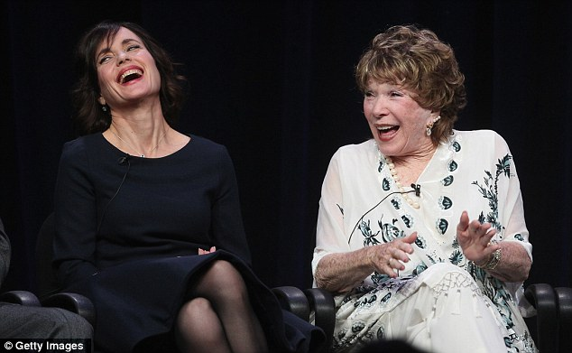 Sharing laughs: Ms MacLaine admitted she hadn't watched the show until her hairdresser mentioned it