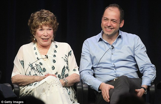 Her new role: Ms MacLaine, pictured with show producer Executive Producer Gareth Neame, was candid about her new role in the show