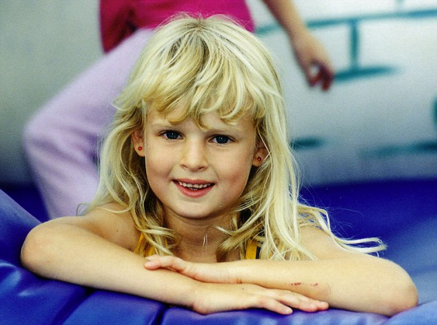 'Our star': Holly wells at a party, aged 7. She and her best friend Jessica Chapman were murdered by Ian Huntley in the summer of 2002