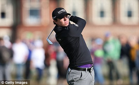 Struggle: McIlroy hopes to return to the top of the tour, but must improve his game