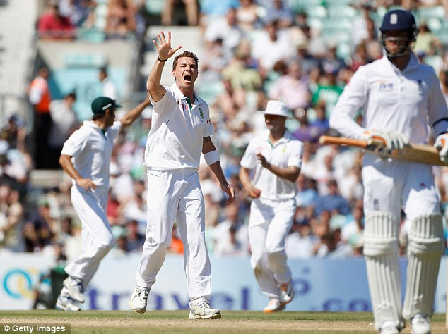 High five: Steyn celebrates five wickets