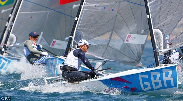 Poised: Ben Ainslie can be happy with his second-place finish in the opening race