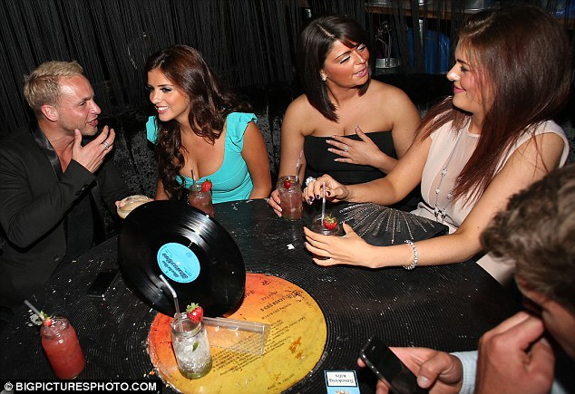 Lucy and her friends had a private table at Foundation Bar in Covent Garden as they enjoyed the cocktails on offer last night