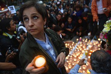 Mexico journalists vigil