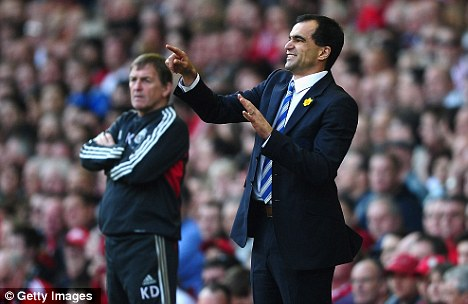 Main man: Roberto Martinez (right) was influential in Ramis' decision