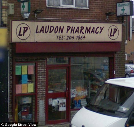 Irregularities: The disputed claims at the five shops that made up Laudon Chemists were for £67,639 of paracetamol suspension and almost £10,000 for an antidepressant and an iron supplement
