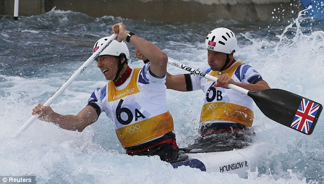 Silver lining: Britain's David Florence (left) and Richard Hounslow had to settle for second