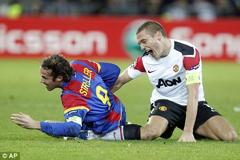 Injury: Vidic has been out of action since the fateful encounter with Basel last December