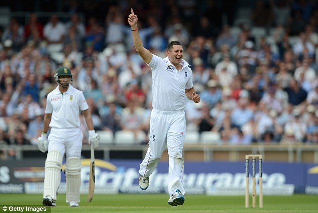 Simply the Bres: The pace bowler took a key wicket at his home ground