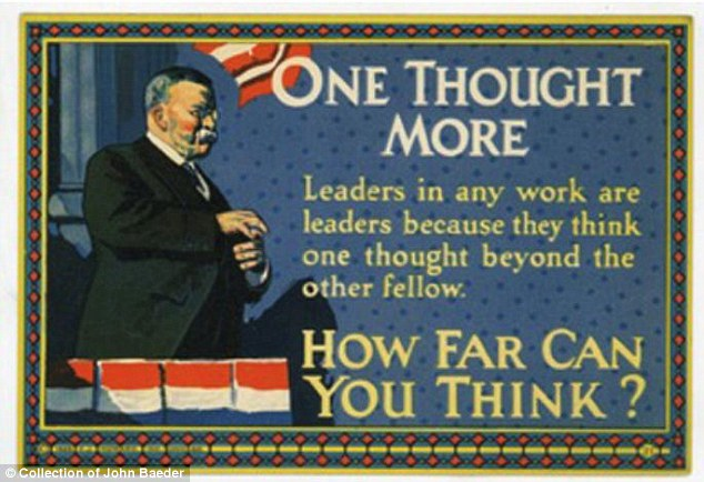 Golden age: Between 1910s and 1930s, cards inspiring employees to work harder had reached the peak of popularity
