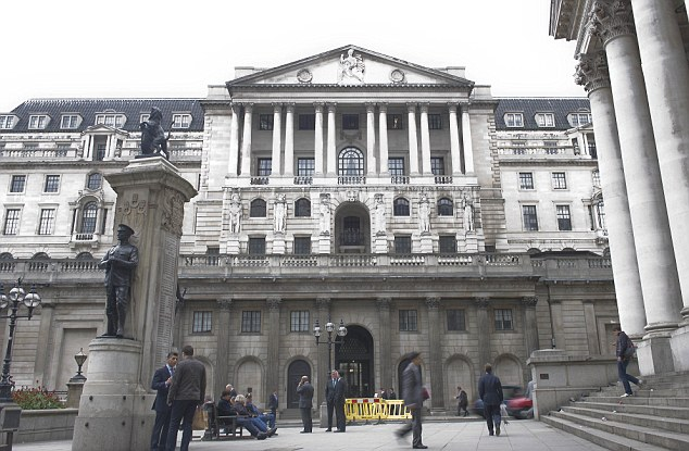 Pressure: The British Chambers of Commerce has urged the Bank of England, pictured, to take immediate action to slash the cost of borrowing to homeowners and business