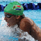 Chad le Clos on his way to a gold medal in the 200 individual medley at the Commonwealth Youth Games in Pune, India.