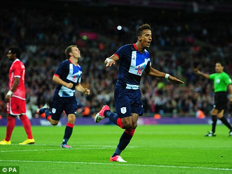 Super sub: Scott Sinclair put Great Britain 2-1 up