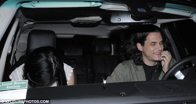 What's so funny? The new couple were seen sharing a joke as they called it an evening after their meal