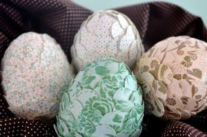 paper punched easter eggs
