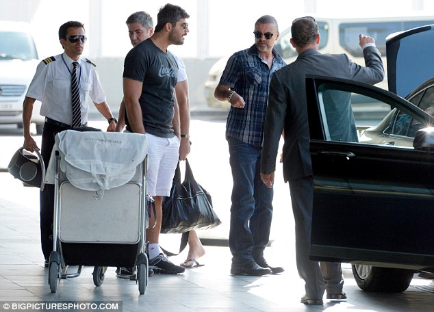Dropping in: The couple arrived in Barcelona earlier that day and were picked up in a chauffeur driven car