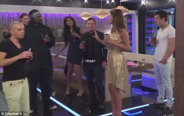 Dancing queens: The housemates passed the task and so were rewarded with a cocktail party